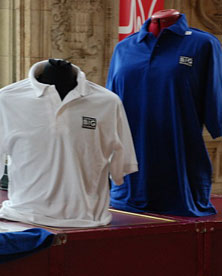 Polo shirts on sales in the foyer at the Royal Albert Hall