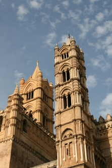 The magnificent towers of Palermo Cathedral