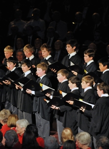 The Chorister's of King's College, Cambridge were our 'surprise guests' at our 15 May concert at the Royal Albert Hall