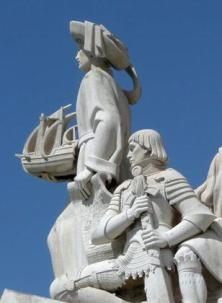 Detail from 'Monument to the Discoverers' on the bank of the River Tagus