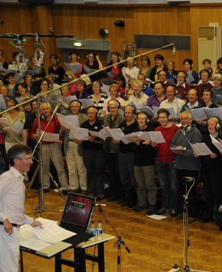 Members of TRBC rehearse at Abbey Road Studios with Trevor Ford