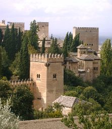 Granada's famous Alhambra, viewed from the Generalife Garden (photo: Reguera, 2003)