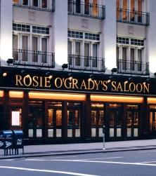 The 7th Avenue frontage of Rosie O'Grady's, where TRBC Members congregated for the post-concert reception