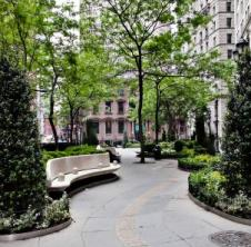 The British Garden at New York's Hanover Square: a memorial to the 67 British subjects who lost their lives in the World Trade Center attacks