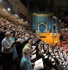 Sopranos up high: every seat filled for Messiah from Scratch